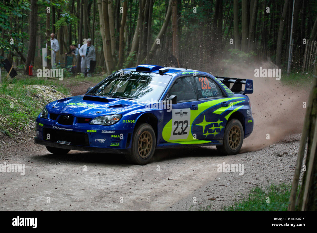 Colin McRae Subaru Impreza Rally Car Powering Round A Corner On The