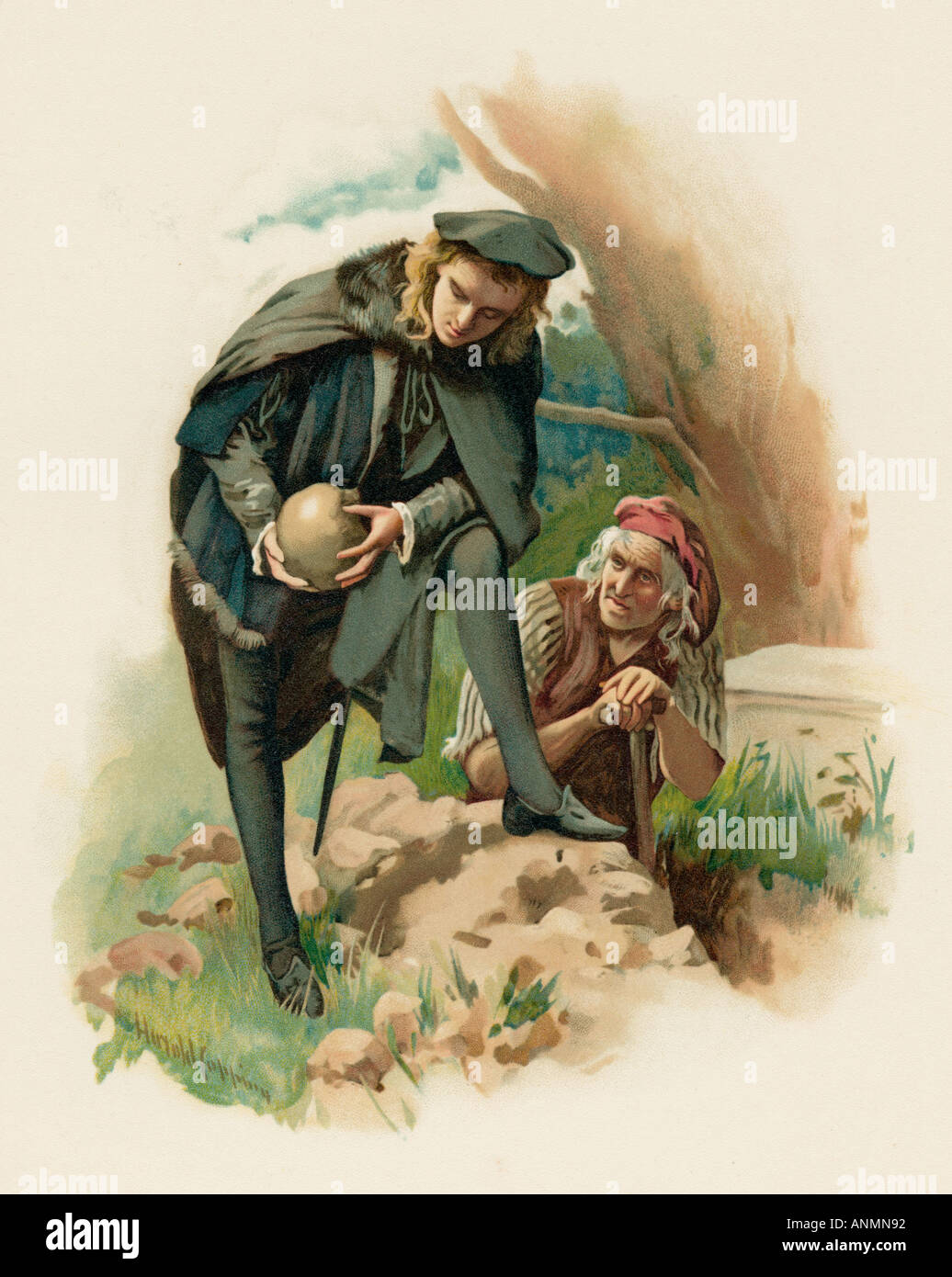 Hamlet At The Grave - Stock Image