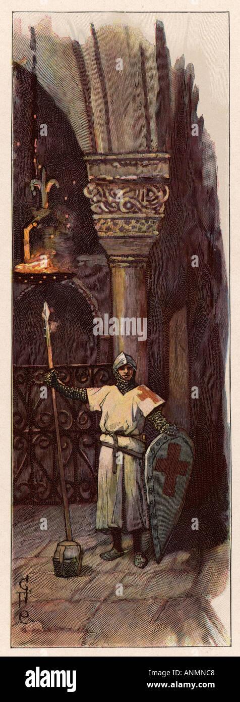 Crusaders Vigil - Stock Image