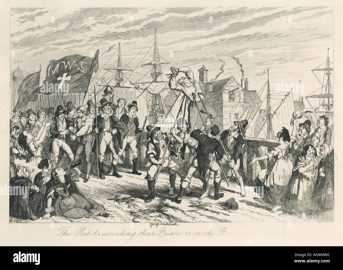 1798 Rebels Kill Captive - Stock Image