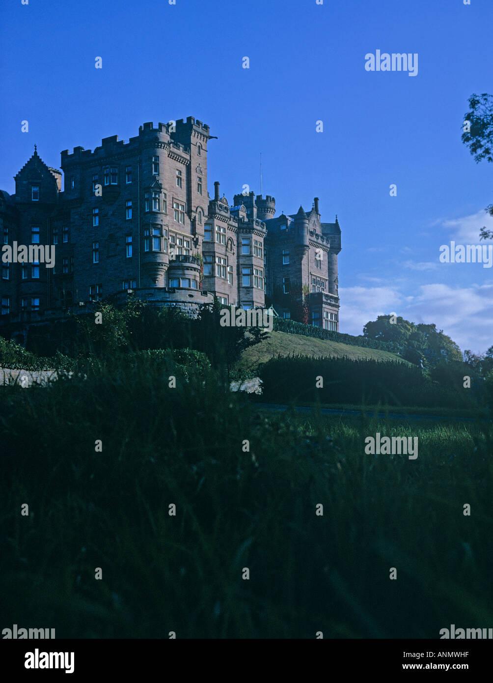 Skibo Castle haunted by a murdered woman whos screams are still heard near Dornoch on the East coast of Scotland - Stock Image