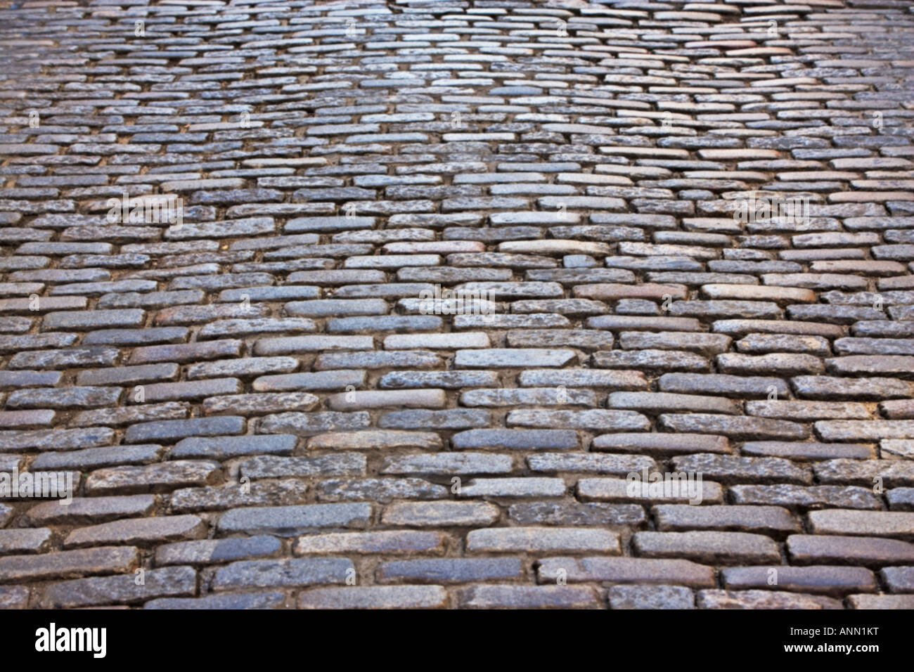 cobblestone street - Stock Image
