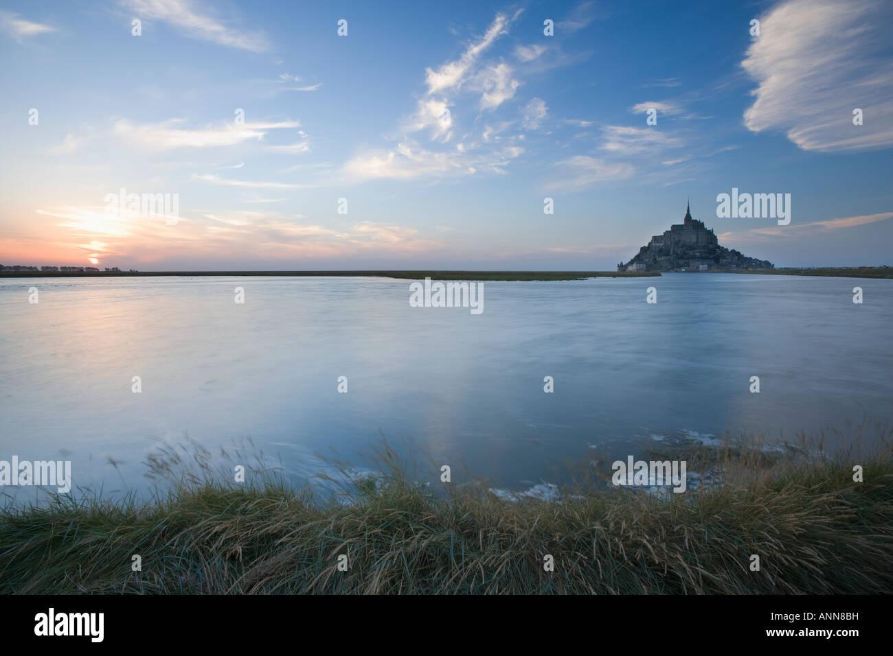 France Normandy Mont Saint-Michel - Stock Image