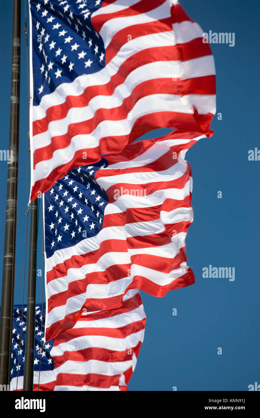 us flag stars and stripes - Stock Image