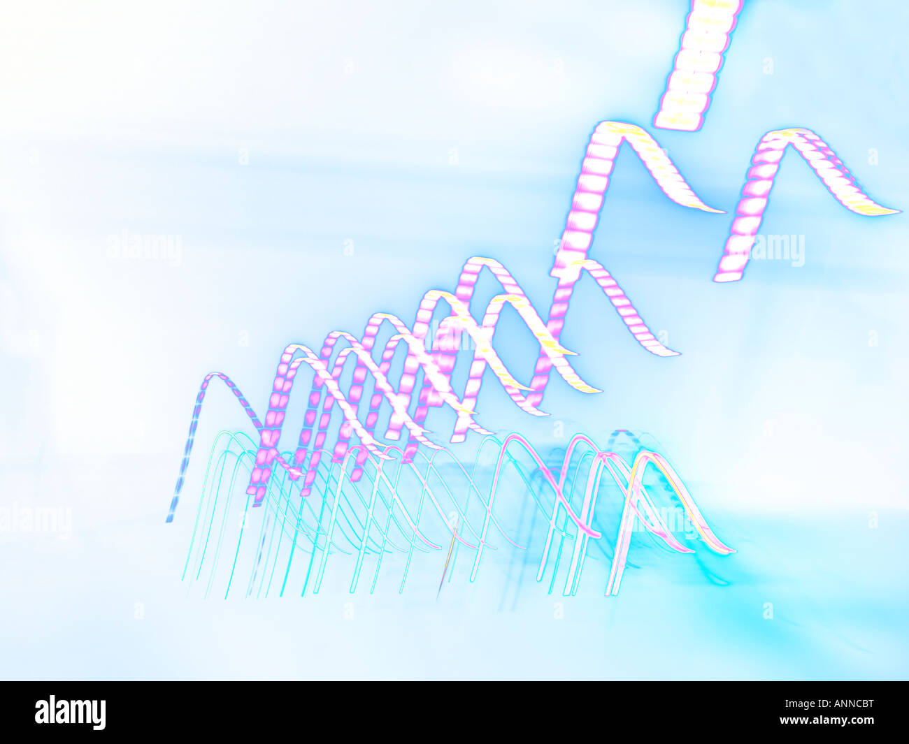 Abstract and Solarised Lights - Stock Image