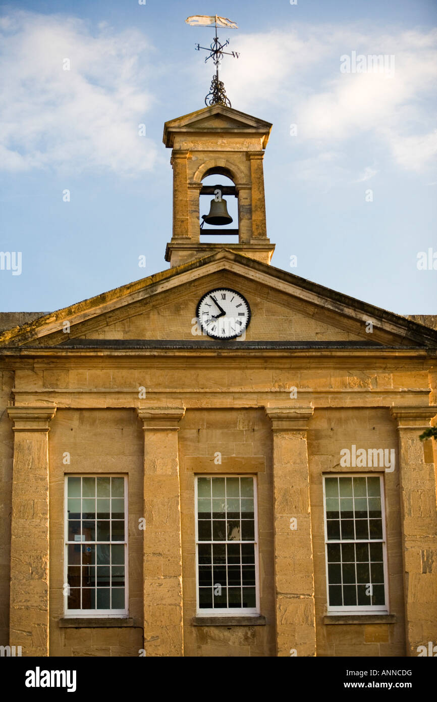 Clock Tower, Chipping Norton High Street, Oxfordshire - Stock Image