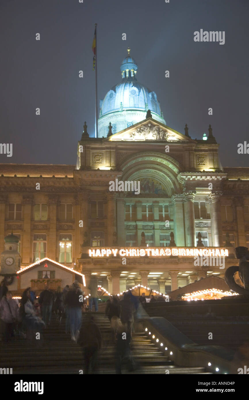 Frankfurt Christmas Market in Birmingham is the biggest outside Germany - Stock Image