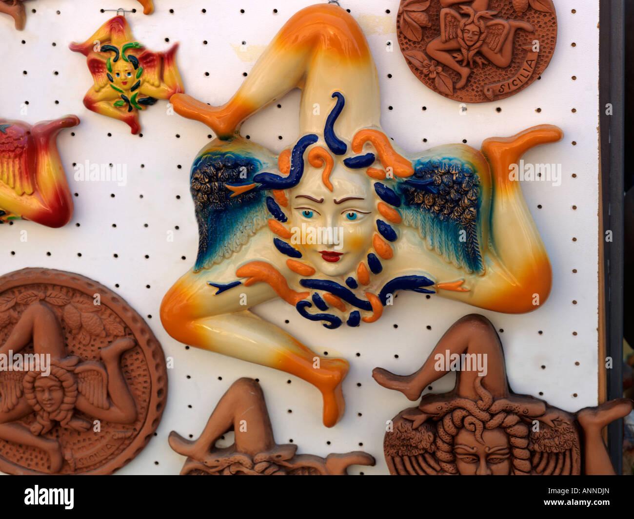 Noto Sicily Italy Trisceli On Sale Symbol Of Sicily Stock Photo