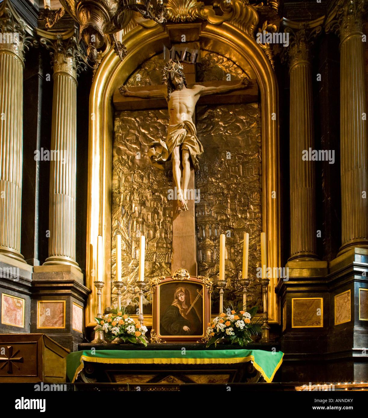 The Slacker Crucifix in the Church of St Mary, Krakow, Poland, EU. - Stock Image