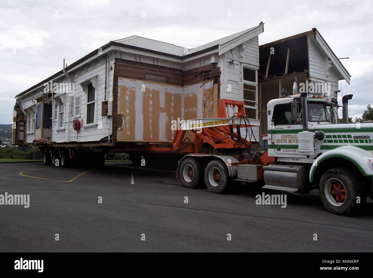 House cut in half, Whanganui, North Island, New Zealand Stock Photo