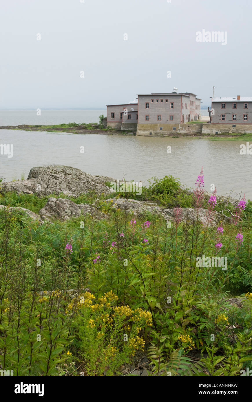Grosse Île and the Irish Memorial National Historic Site, province of Quebec, Canada. Stock Photo