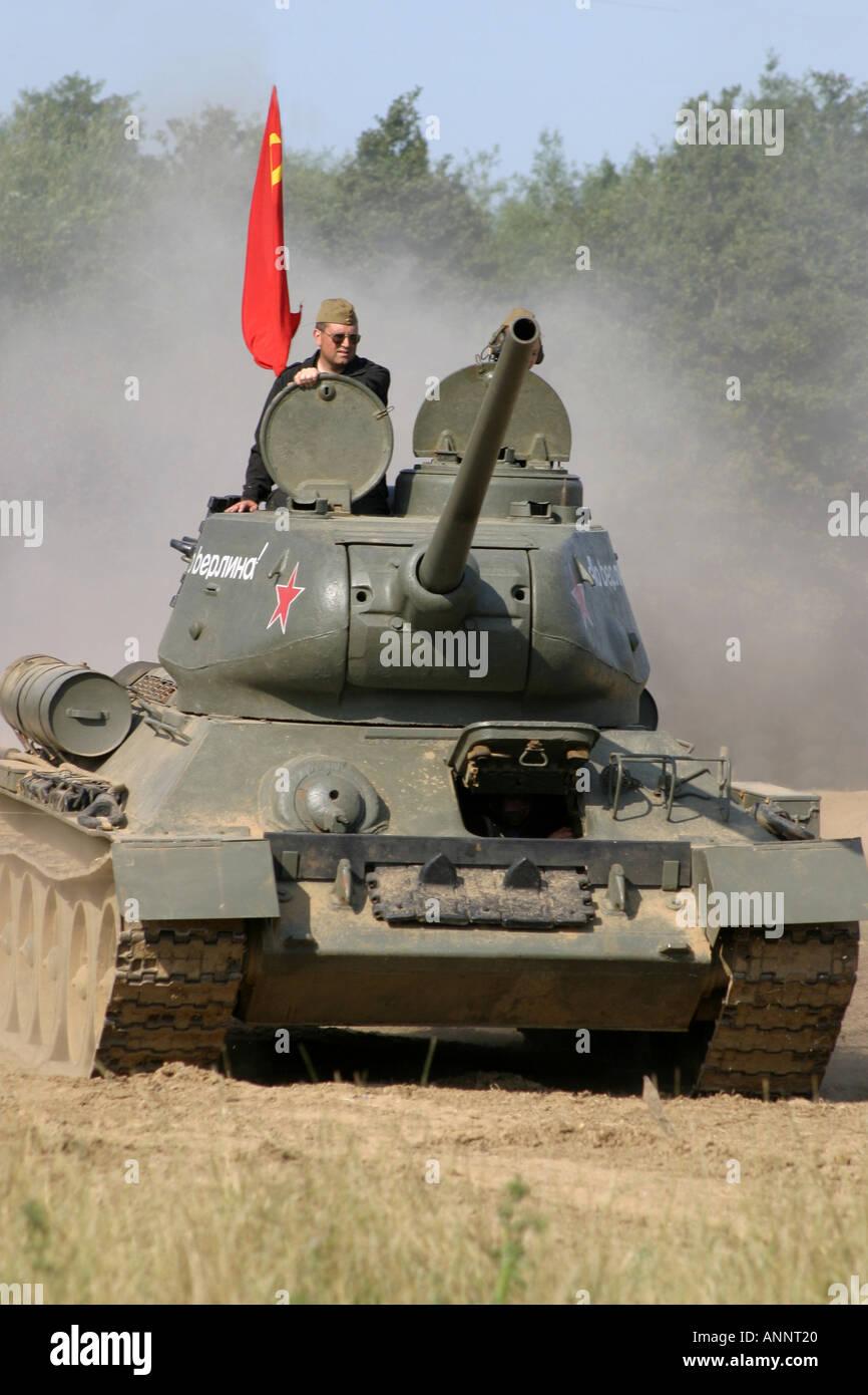 Russian T34 WW2 Tank - Stock Image
