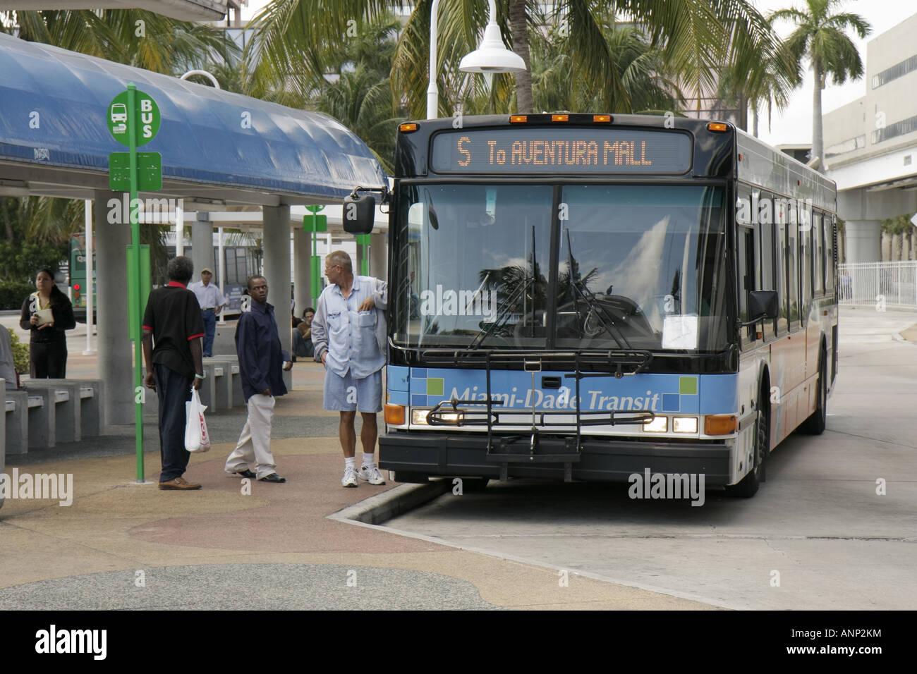 Miami Florida Omni Station Miami Dade Transit Metrobus