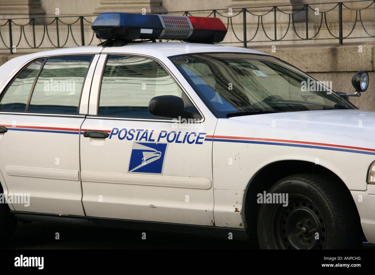 US Postal Police car - Stock Image