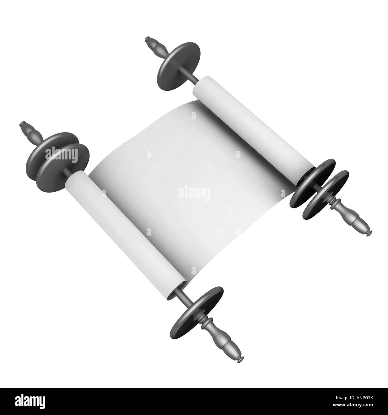 Paper scroll - Stock Image