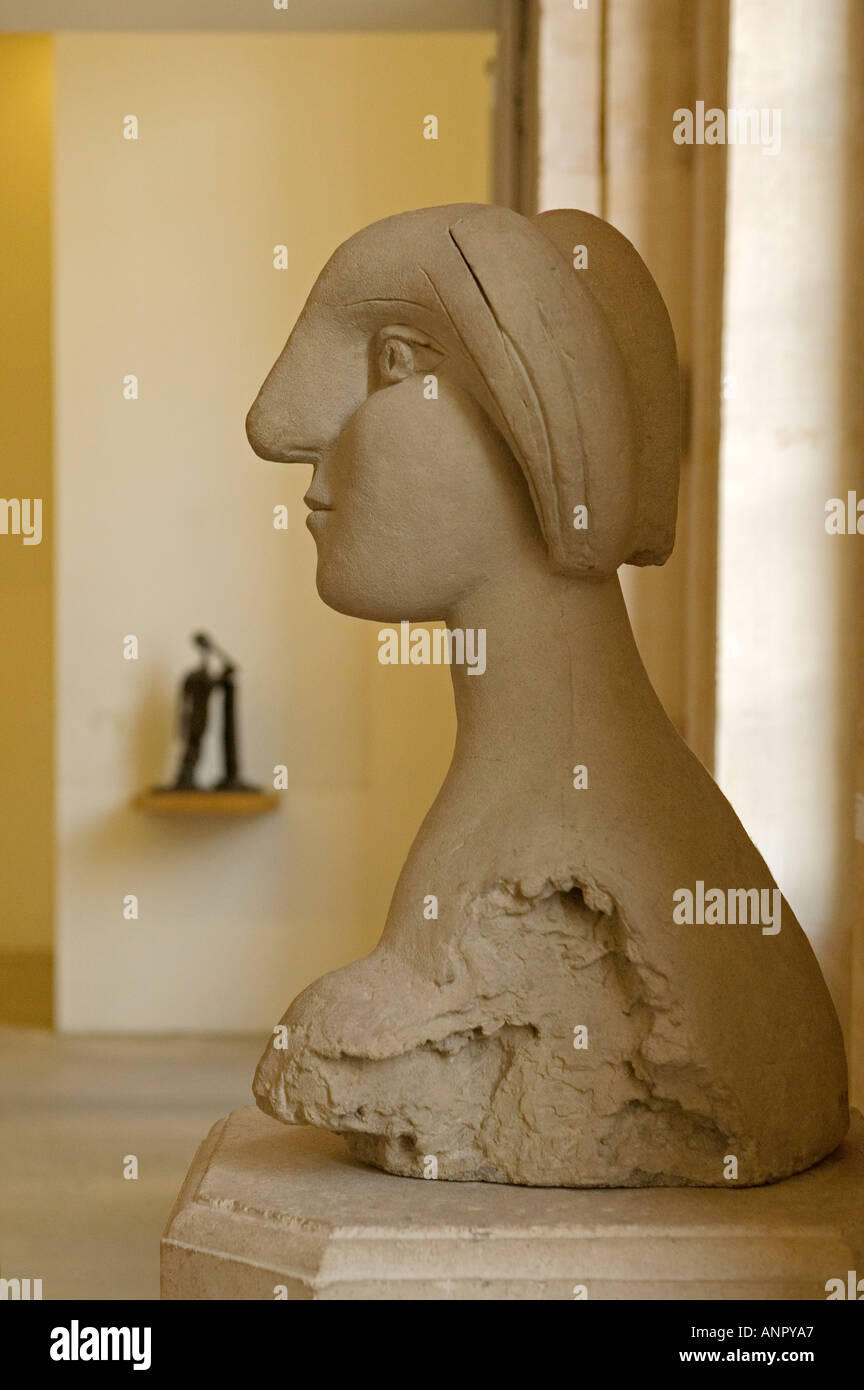 Sculpture by Pablo Picasso in Musee Picasso Buste De Femme in the ...