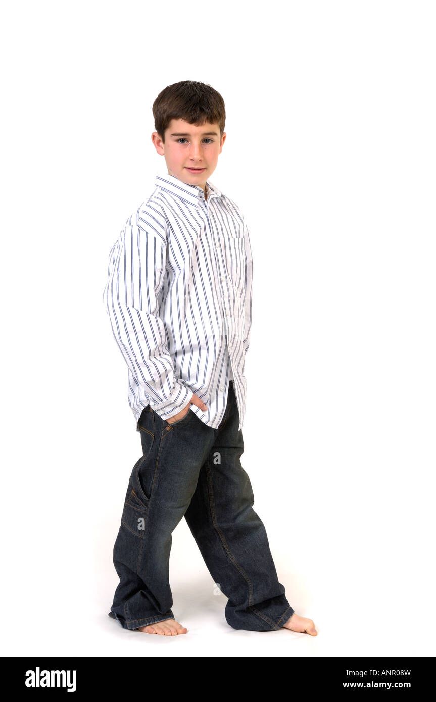 Young boy in studio - Stock Image