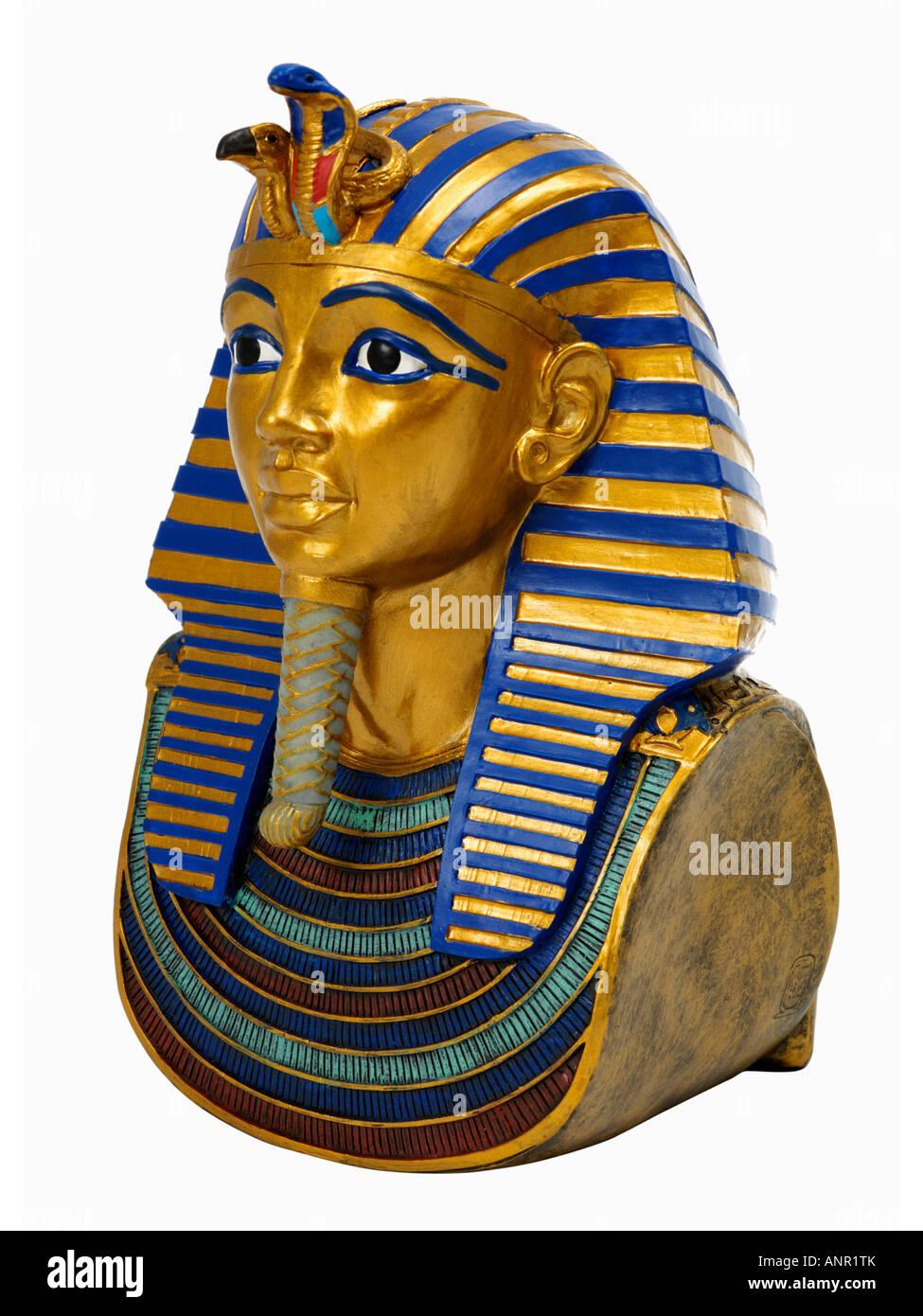 Tutankhamun mask - Stock Image