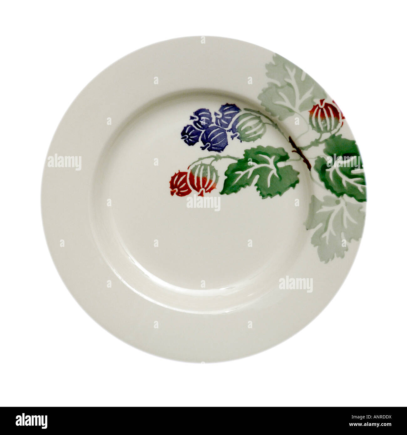 Bridgewater Pottery plate for EDITORIAL PURPOSES ONLY potted  2002 21st Anniversary - Stock Image