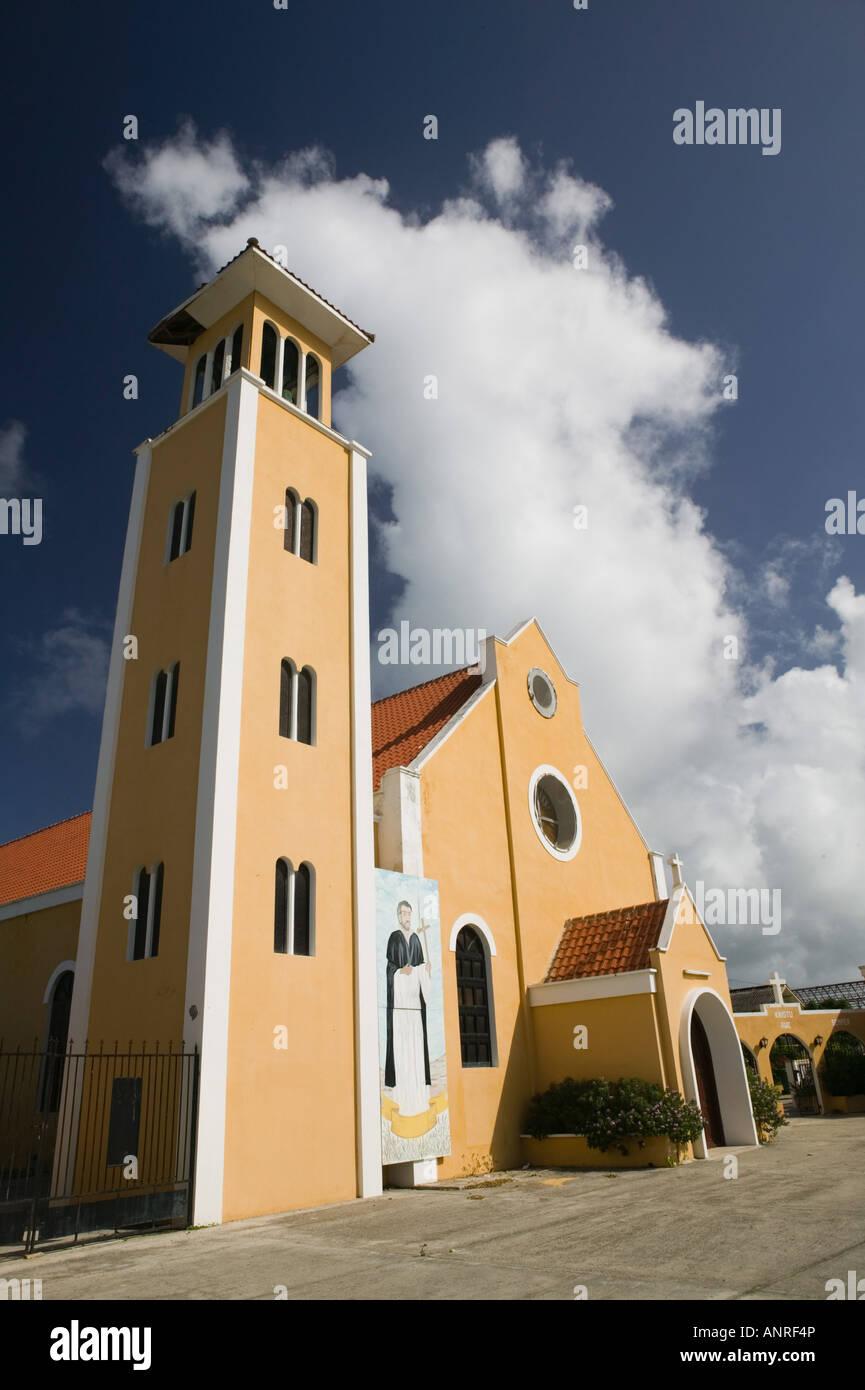 ABC Islands, BONAIRE, Rincon: San Lodovico Bertran Catholic Church - Stock Image