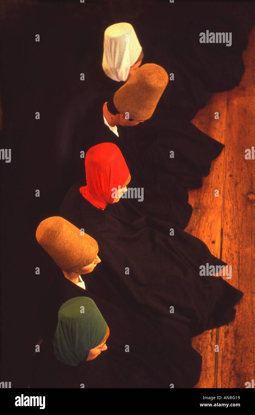 The sema whirling women dervish ceremony Istanbul Turkey - Stock Image