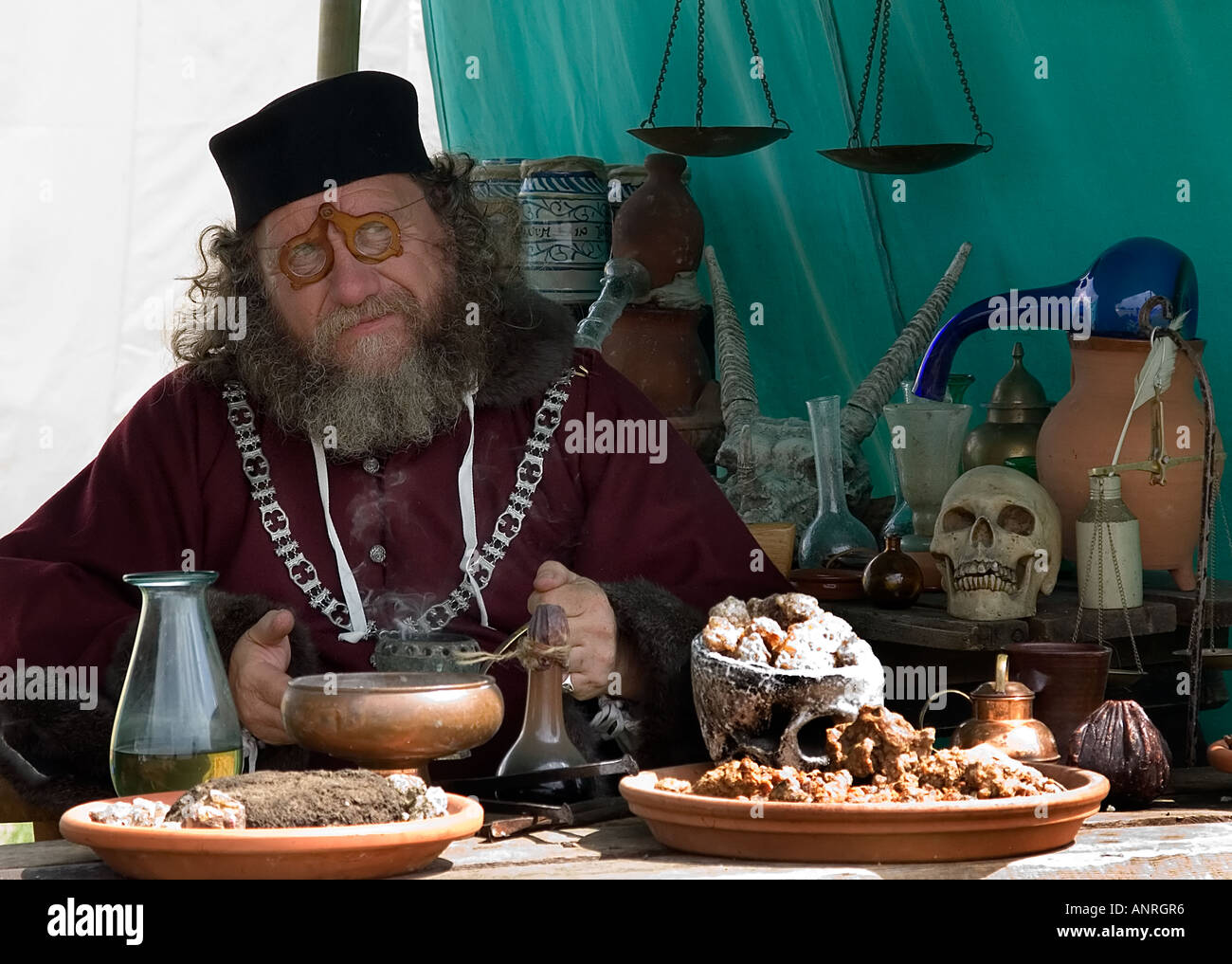 Alchemist from a medieval festival in Bedford UK 2006 - Stock Image