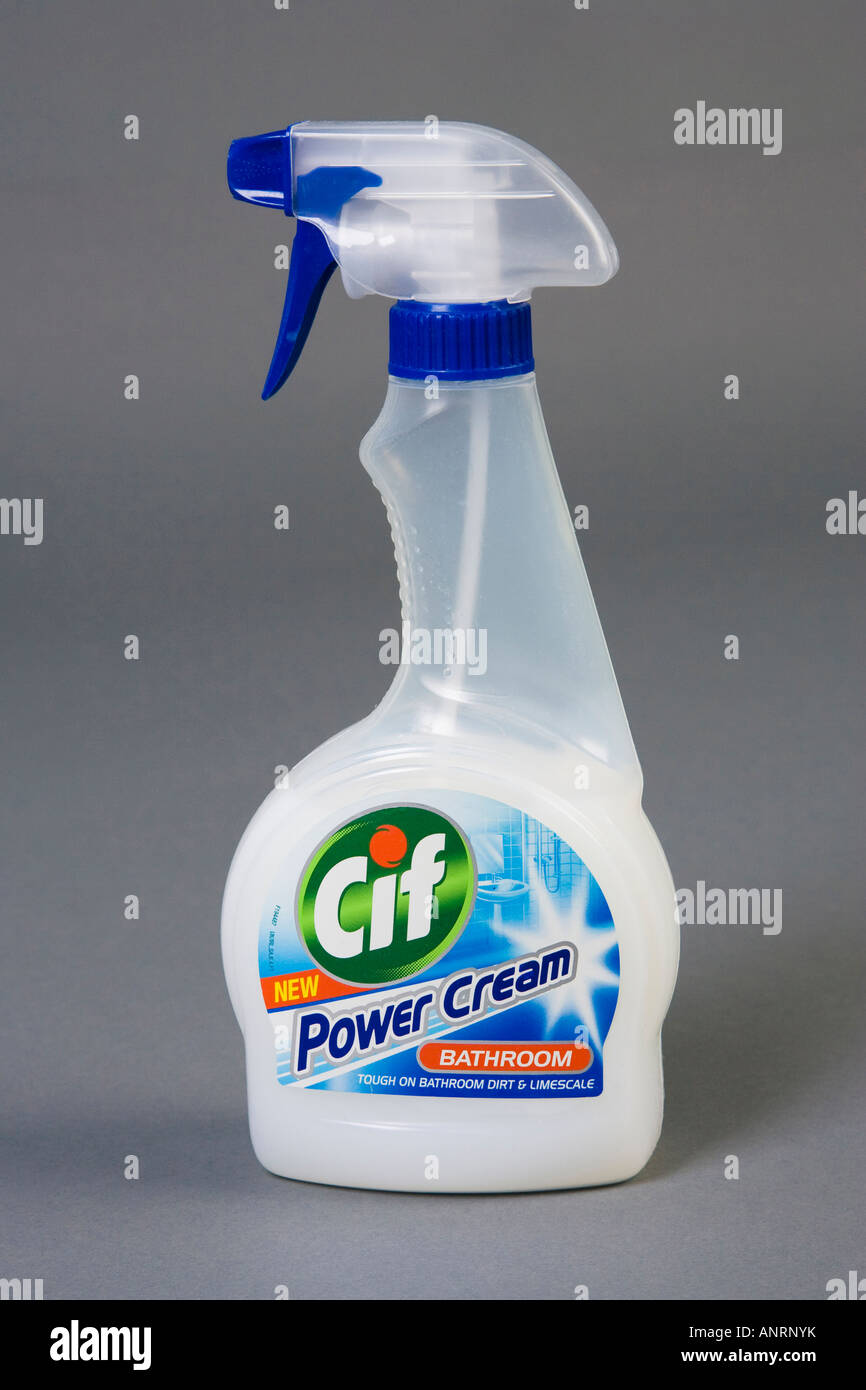 CIF spray bottle of cleaning liquid - Stock Image