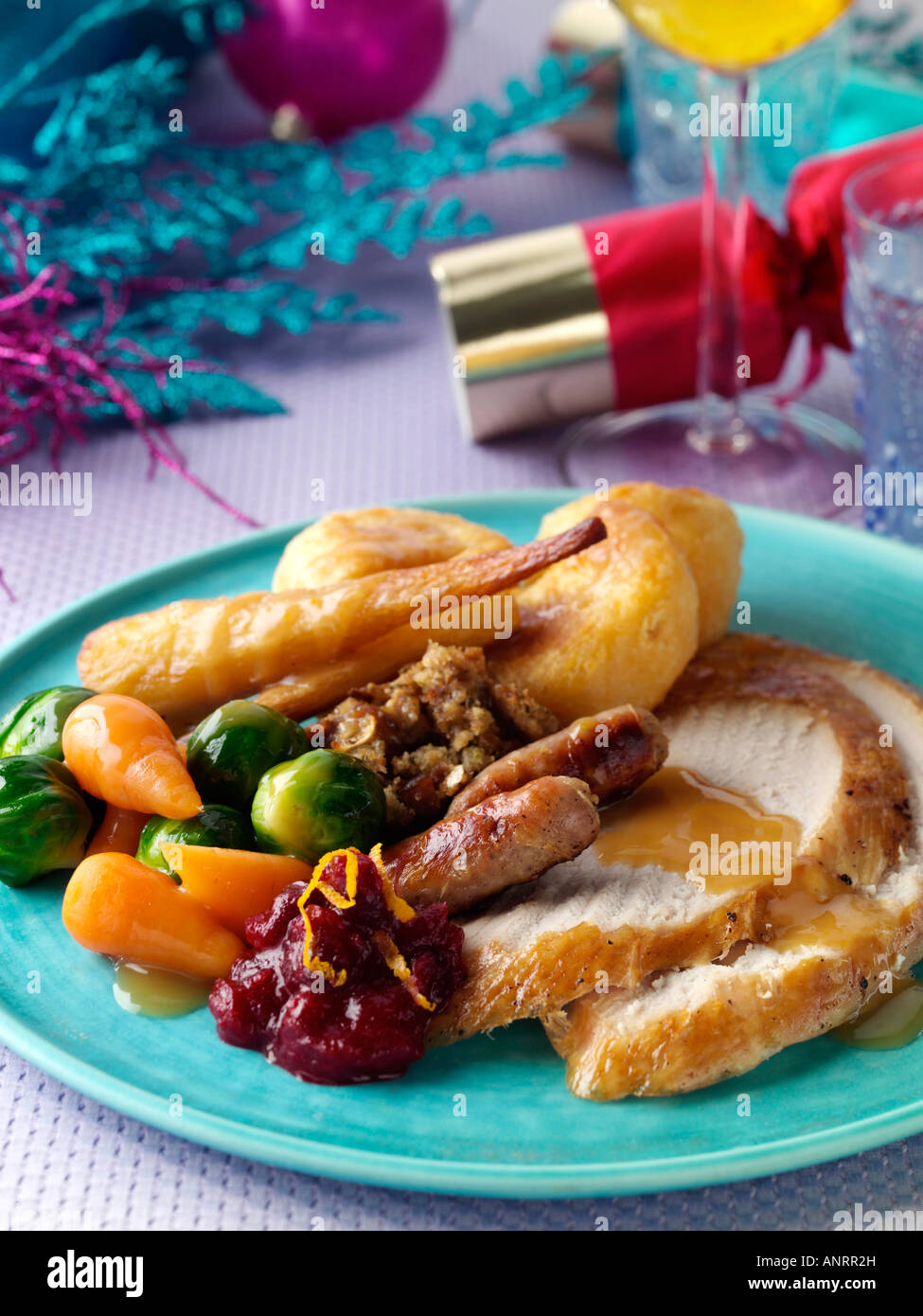 Christmas turkey dinner traditional english editorial food stock christmas turkey dinner traditional english editorial food forumfinder Images
