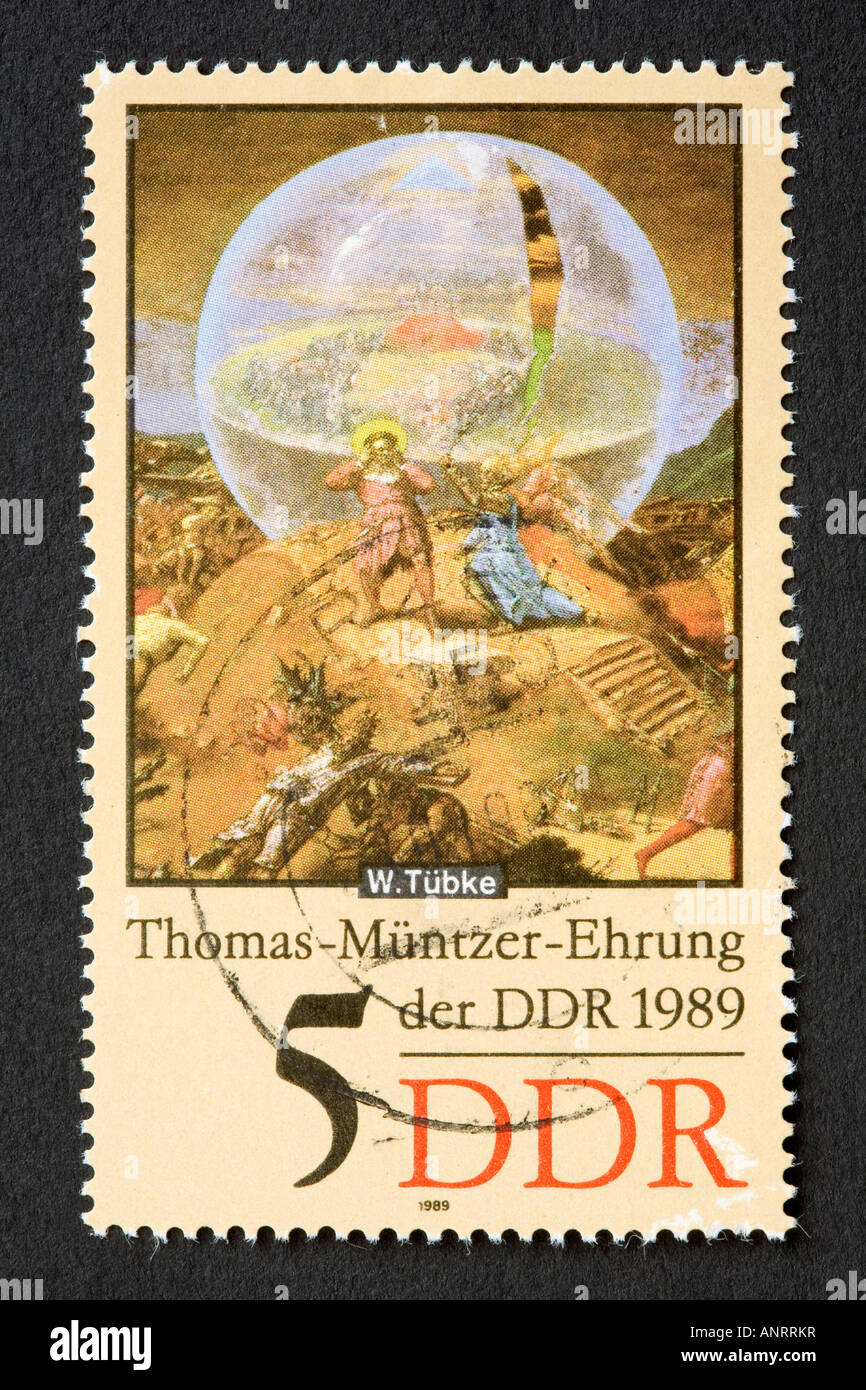 DDR postage stamp Stock Photo: 15590746 - Alamy
