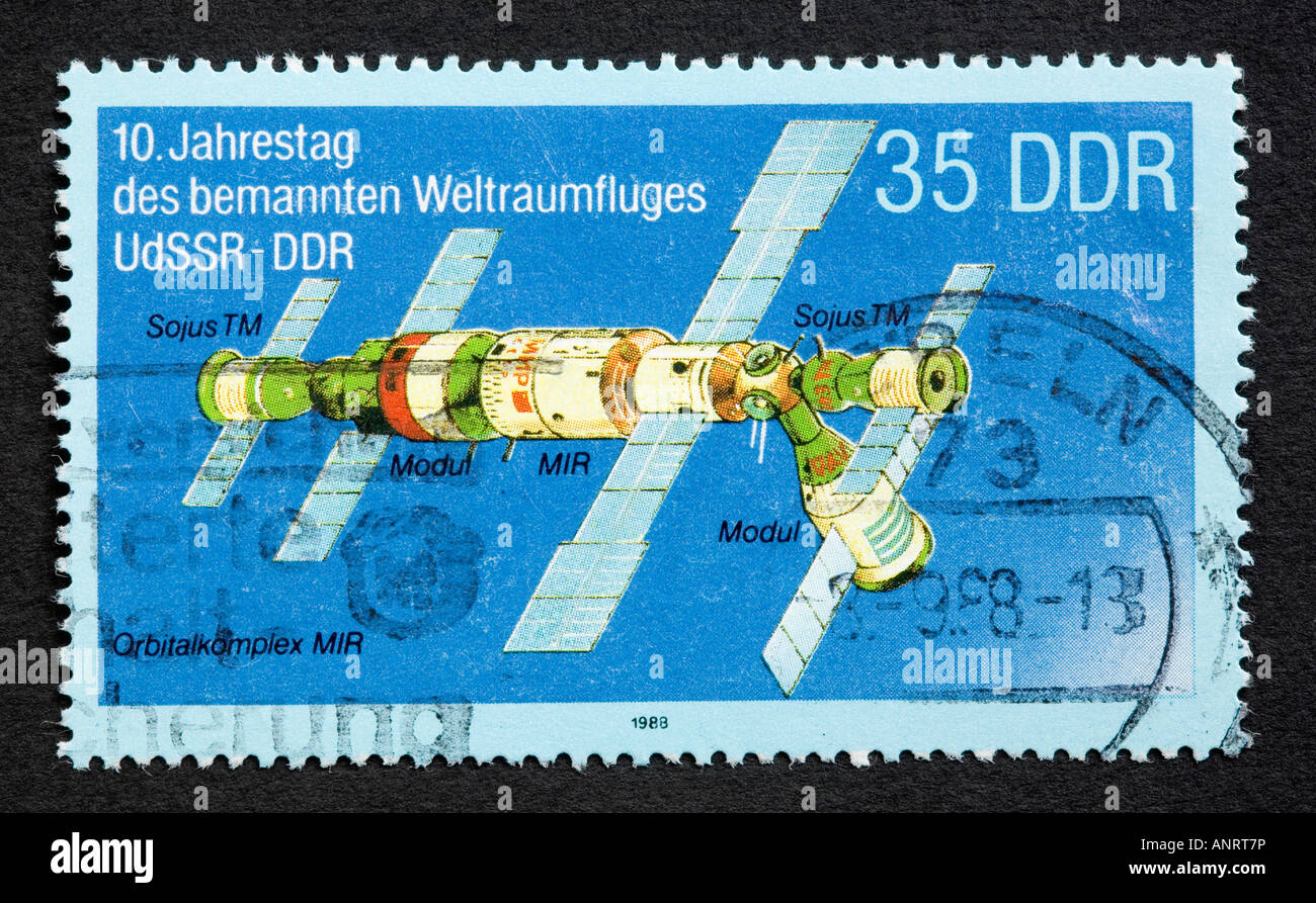 DDR postage stamp - Stock Image