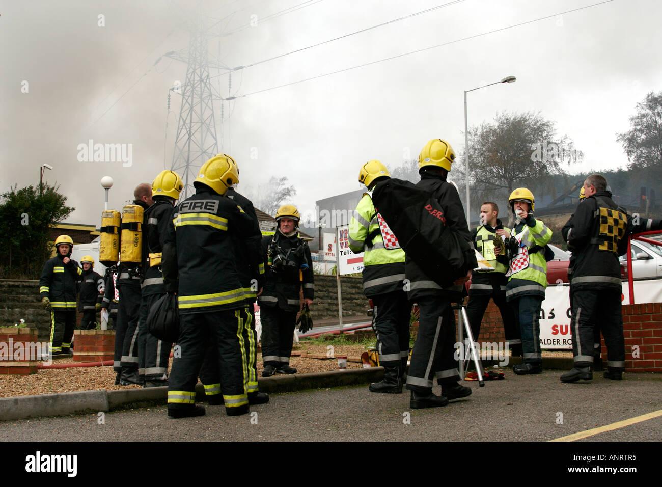 Firemen on duty - Stock Image