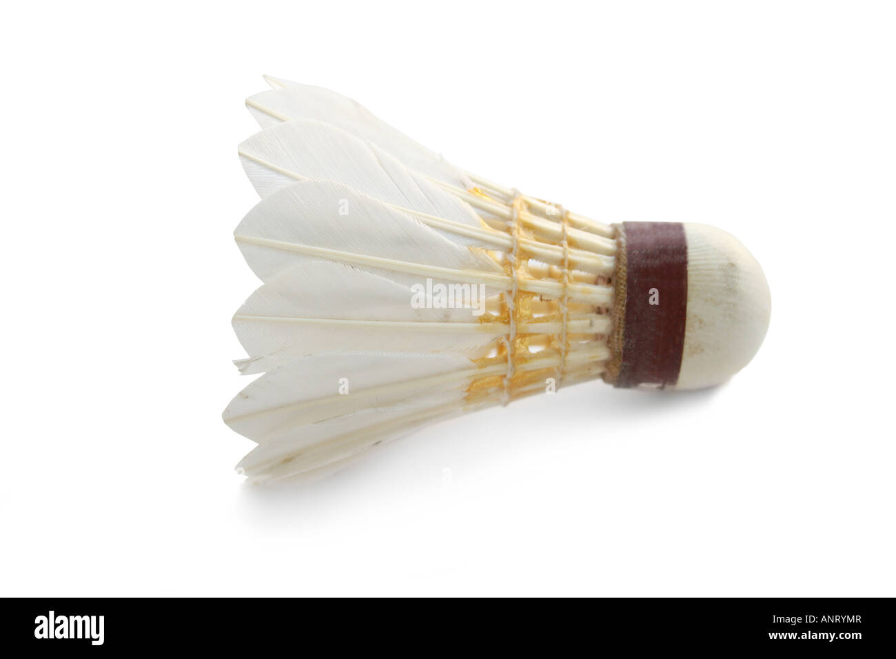 Sport inventory flounce for the badminton isolated - Stock Image