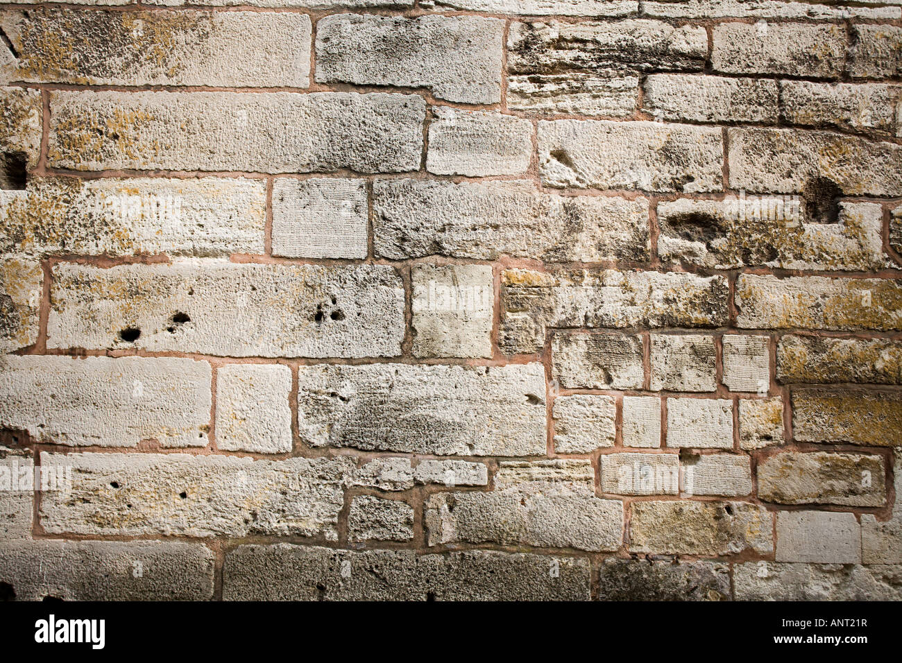 Kitchen Wall The huge rough blocks of stone that make up the kitchen walls of the Topkapi Palace - Stock Image