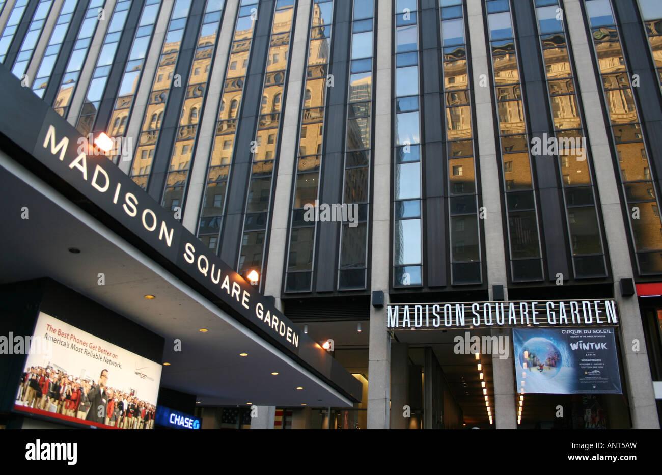 Entrance To Madison Square Garden Sports Arena Manhattan New York City  November 2007