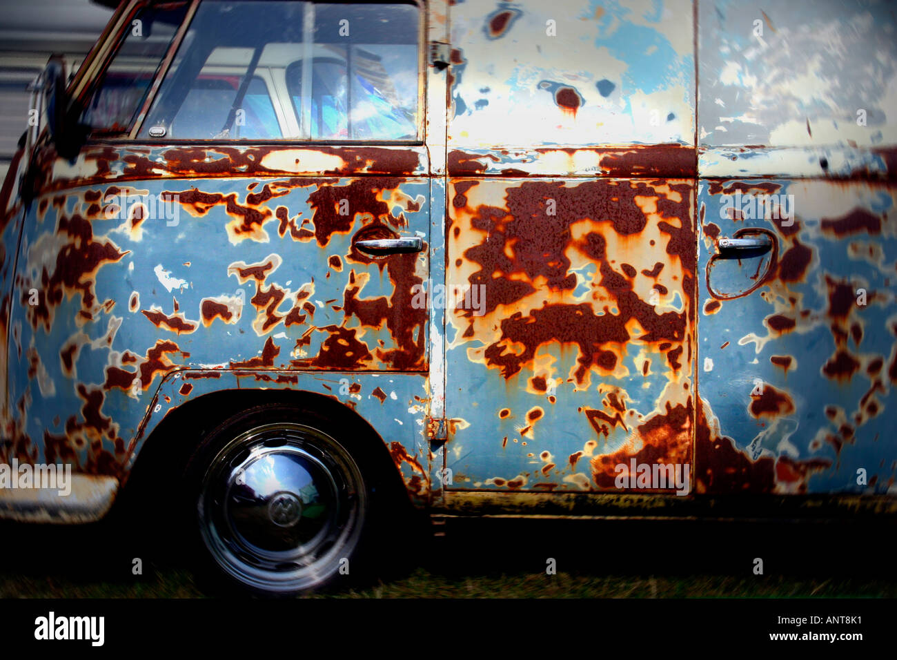 old rusty VW van - Stock Image