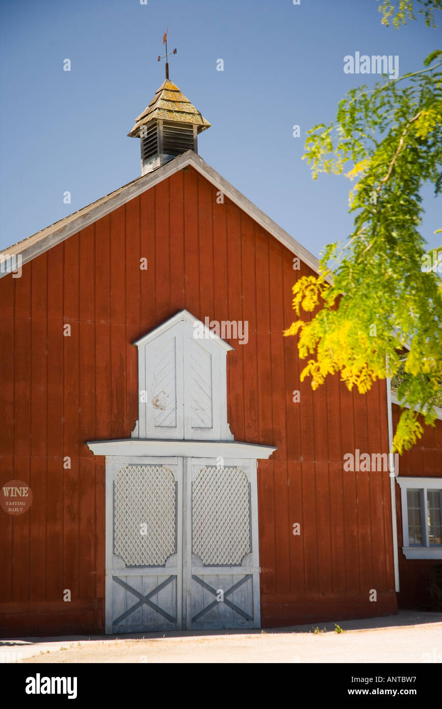 Red Barn At The Mosby Vineyard Tasting Room Santa Ynez Valley Near
