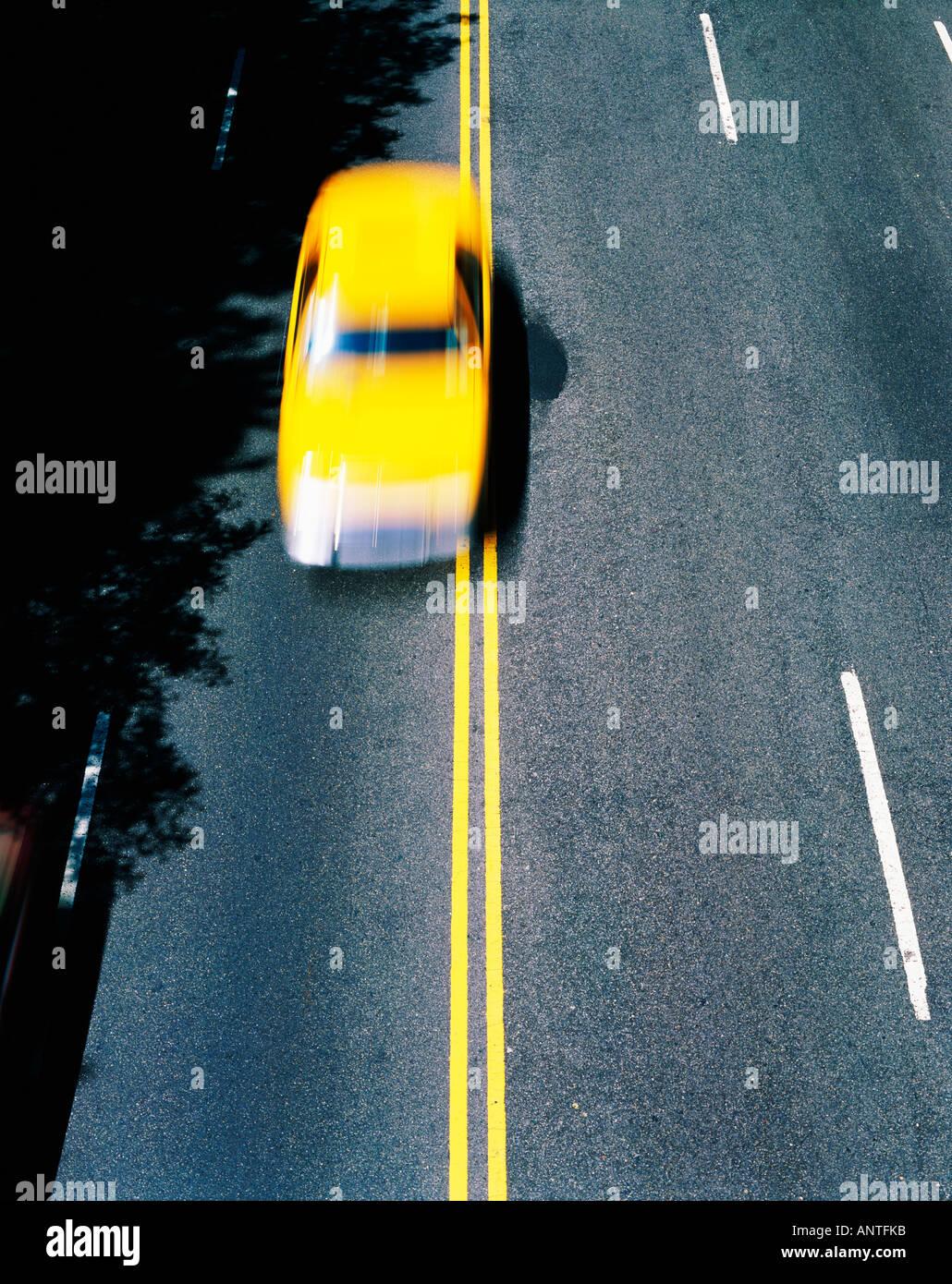 USA   NEW YORK   TAXI - Stock Image