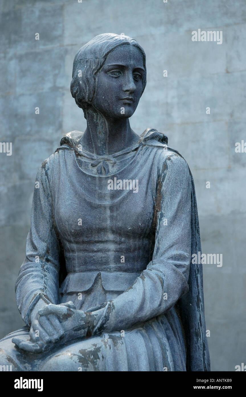 LOUISIANA Evangeline Statue from poem written by Henry Wadsworth Longfellow - Stock Image