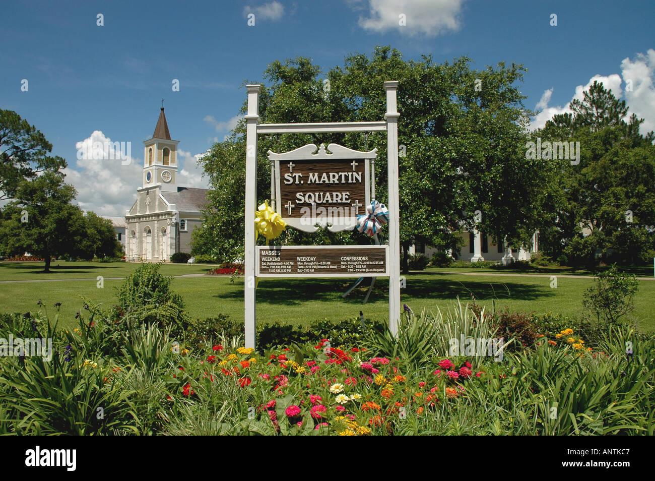 Louisiana la Lafayette cajun country acadiana st martin square st martinville - Stock Image