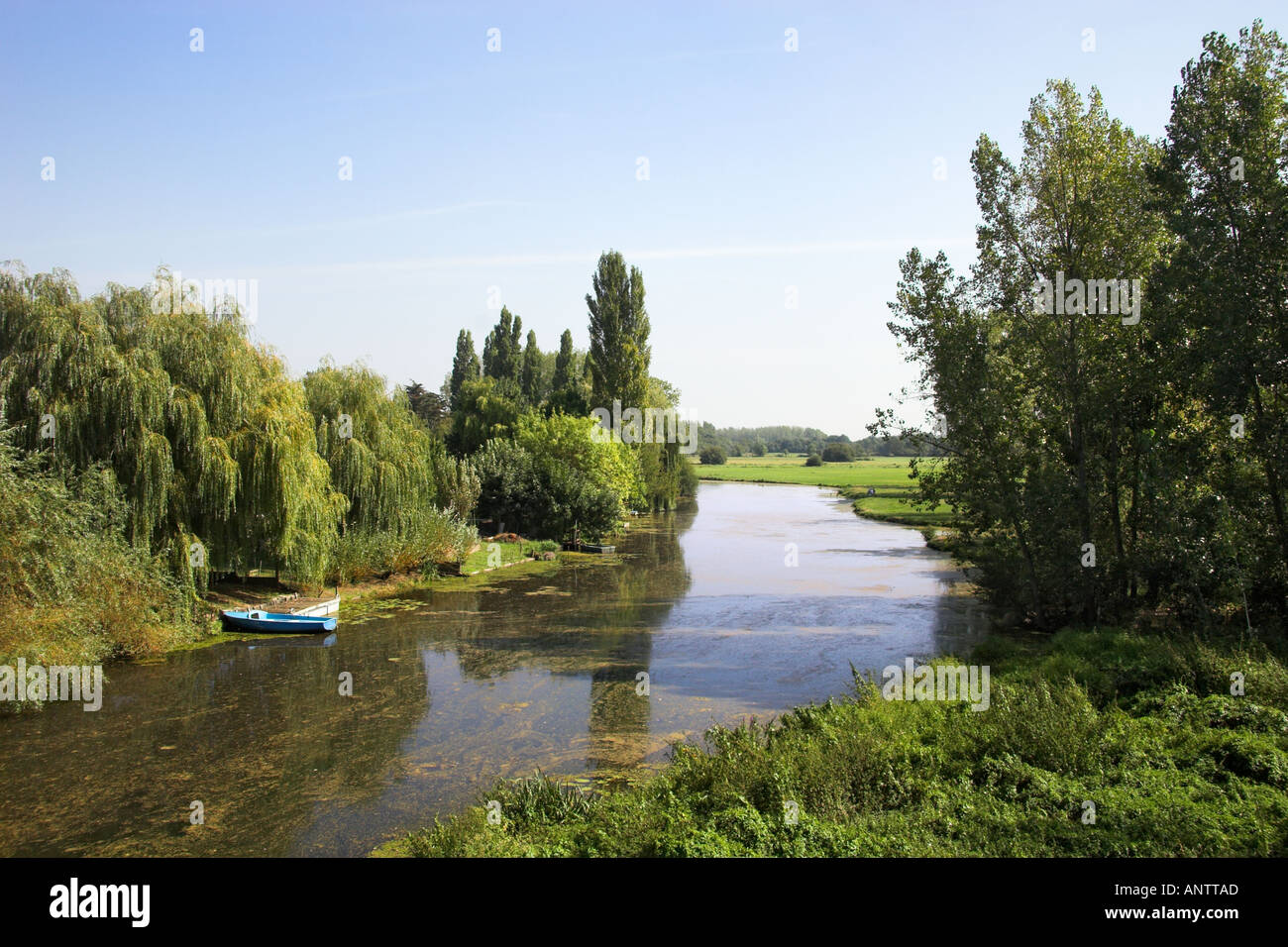 L Acheneau River at Port St Père Loire Atlantique France Muscadet Côtes de Grand Lieu Stock Photo