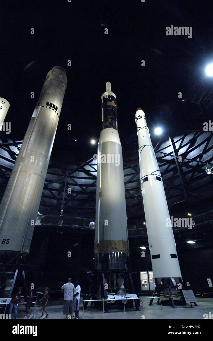 Cold war Inter continental Nuclear missiles at the Wright Patterson Air Force Museum in Dayton, Ohio. - Stock Image