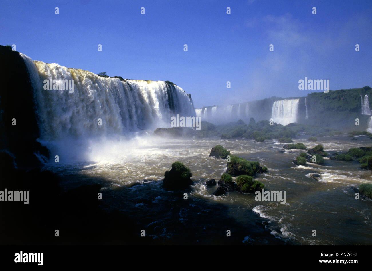 iguacu falls state of parana brazil - Stock Image