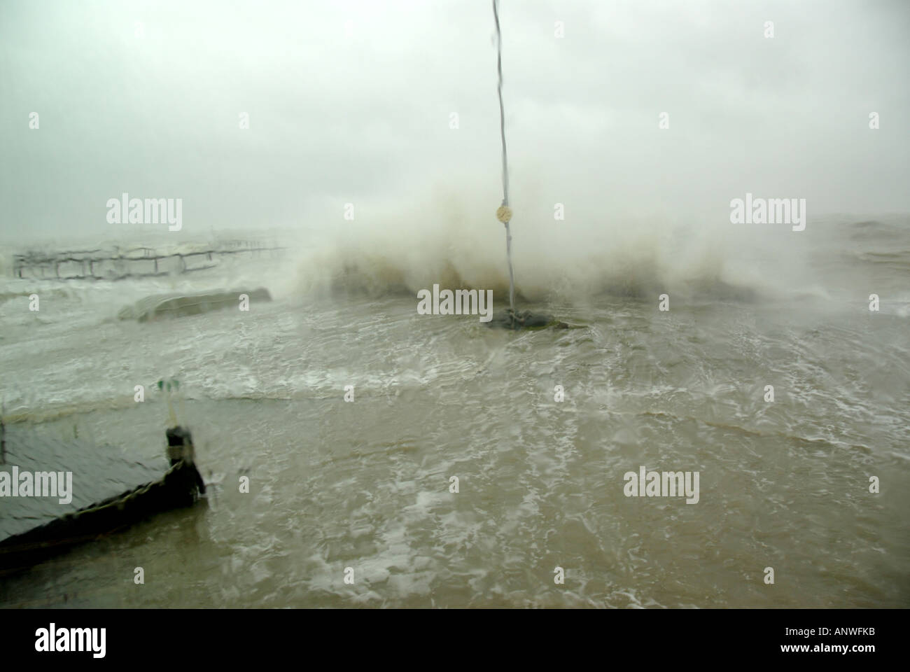 Nature Weather tropical storm flood hurricane waves - Stock Image