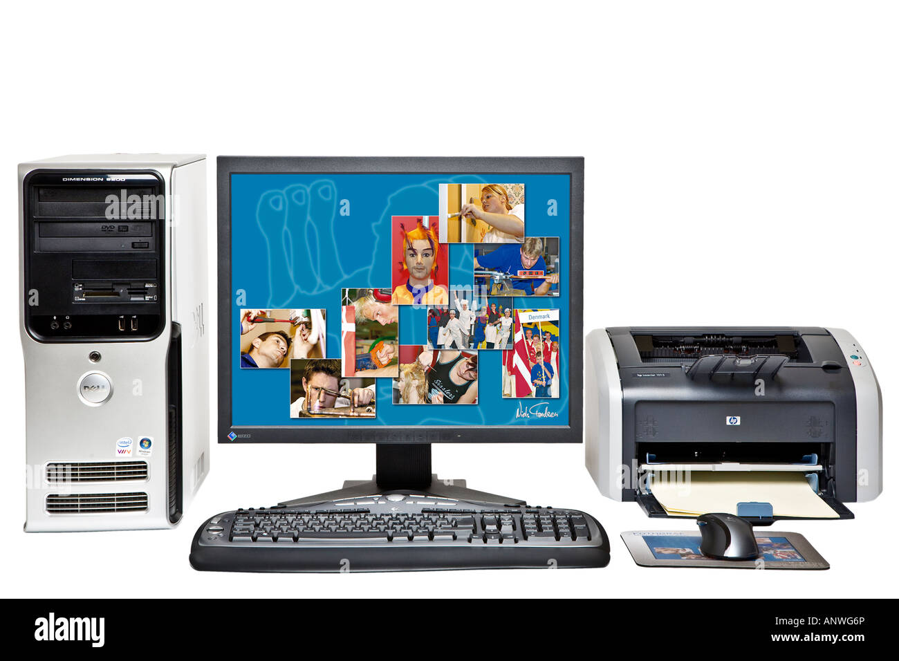 Personal computer system - Stock Image