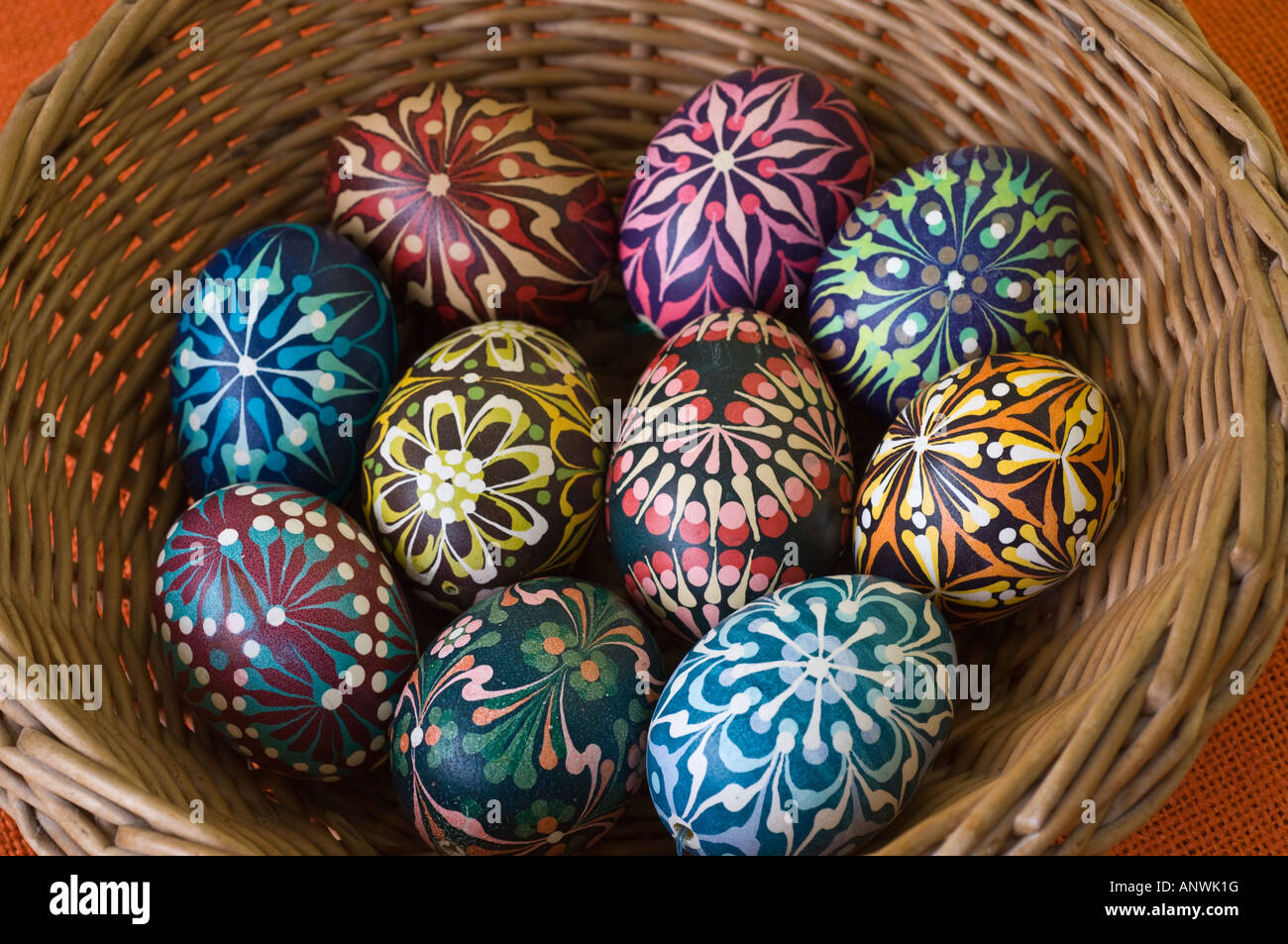 Collection Of Easter Eggs Decorated By Krystyna Majewska From Gdansk