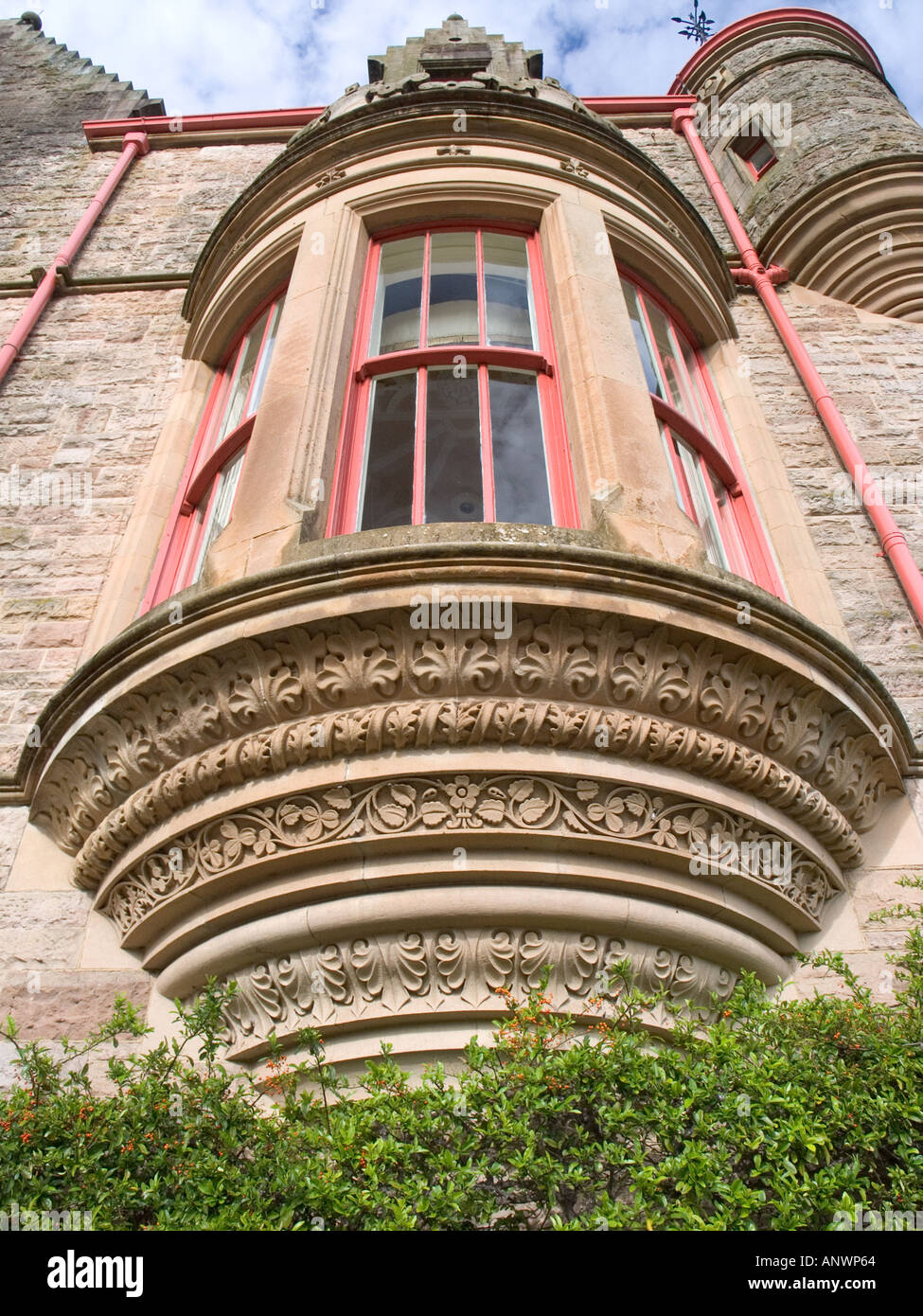 Large Bay Window Belfast Castle Cave Hill Antrim Northern Ireland UK - Stock Image