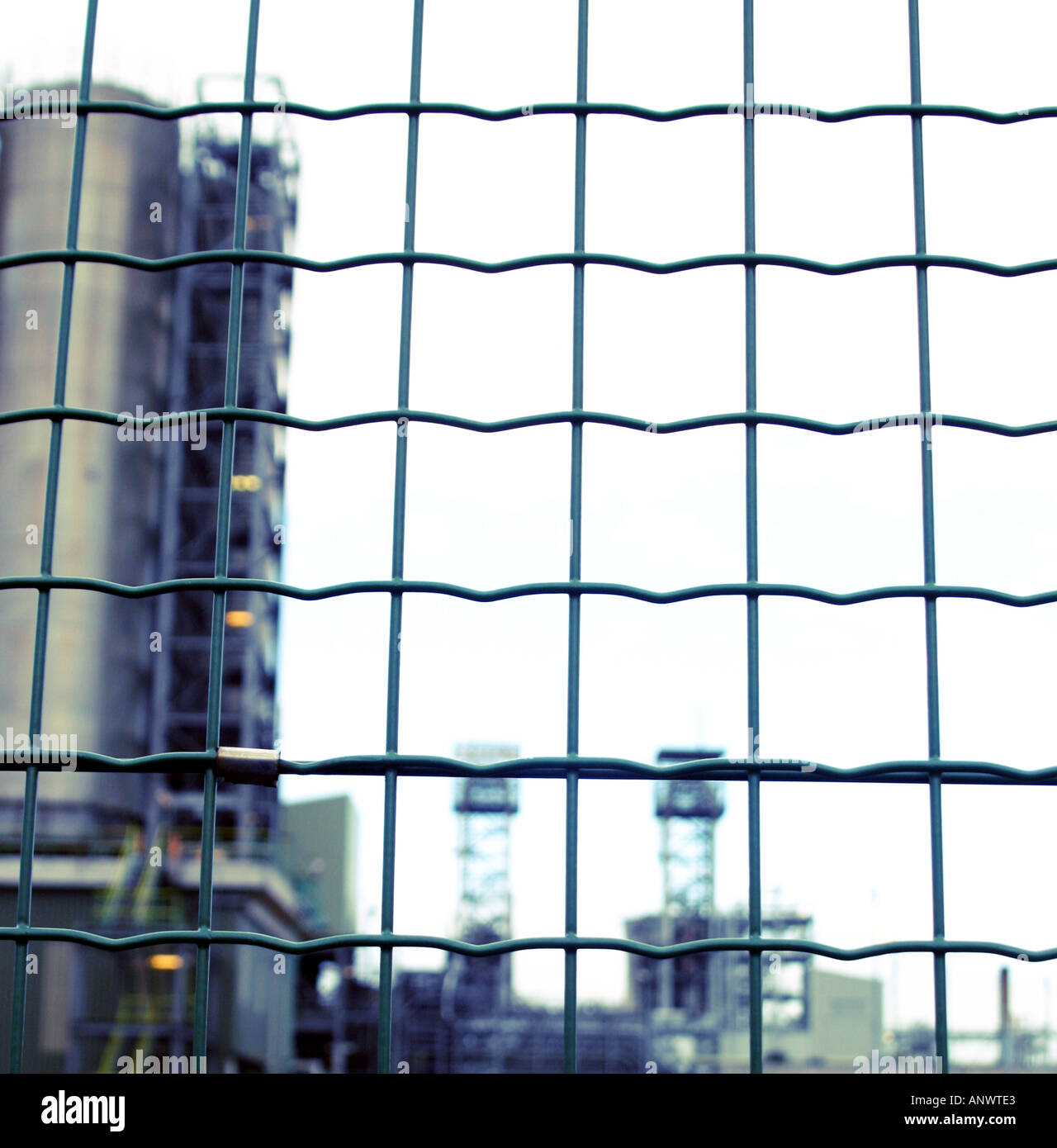 Abstract image of the view through the fence protecting a Stock ...