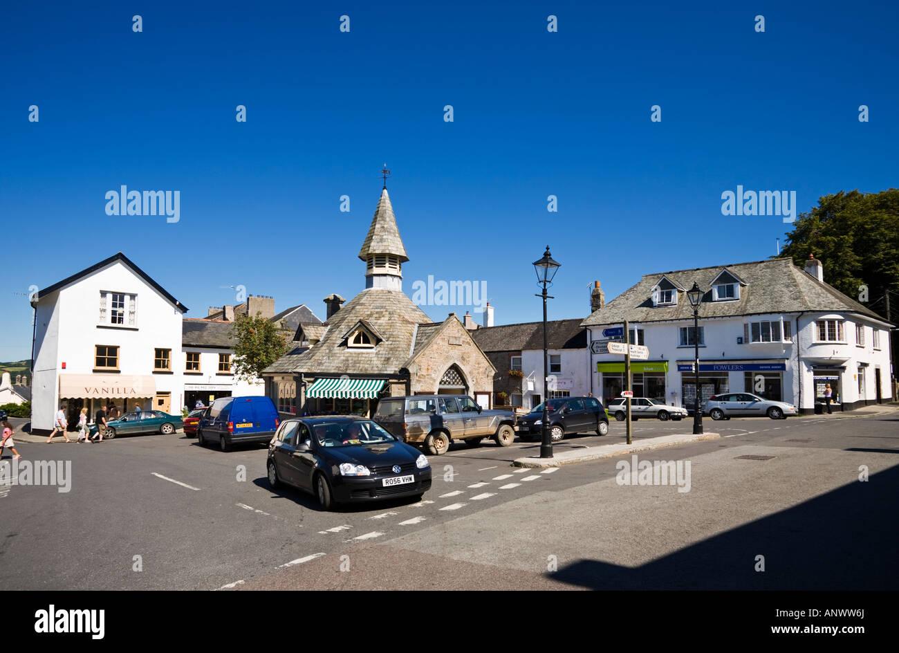 Village centre in Chagford, West Devon, England, UK - Stock Image