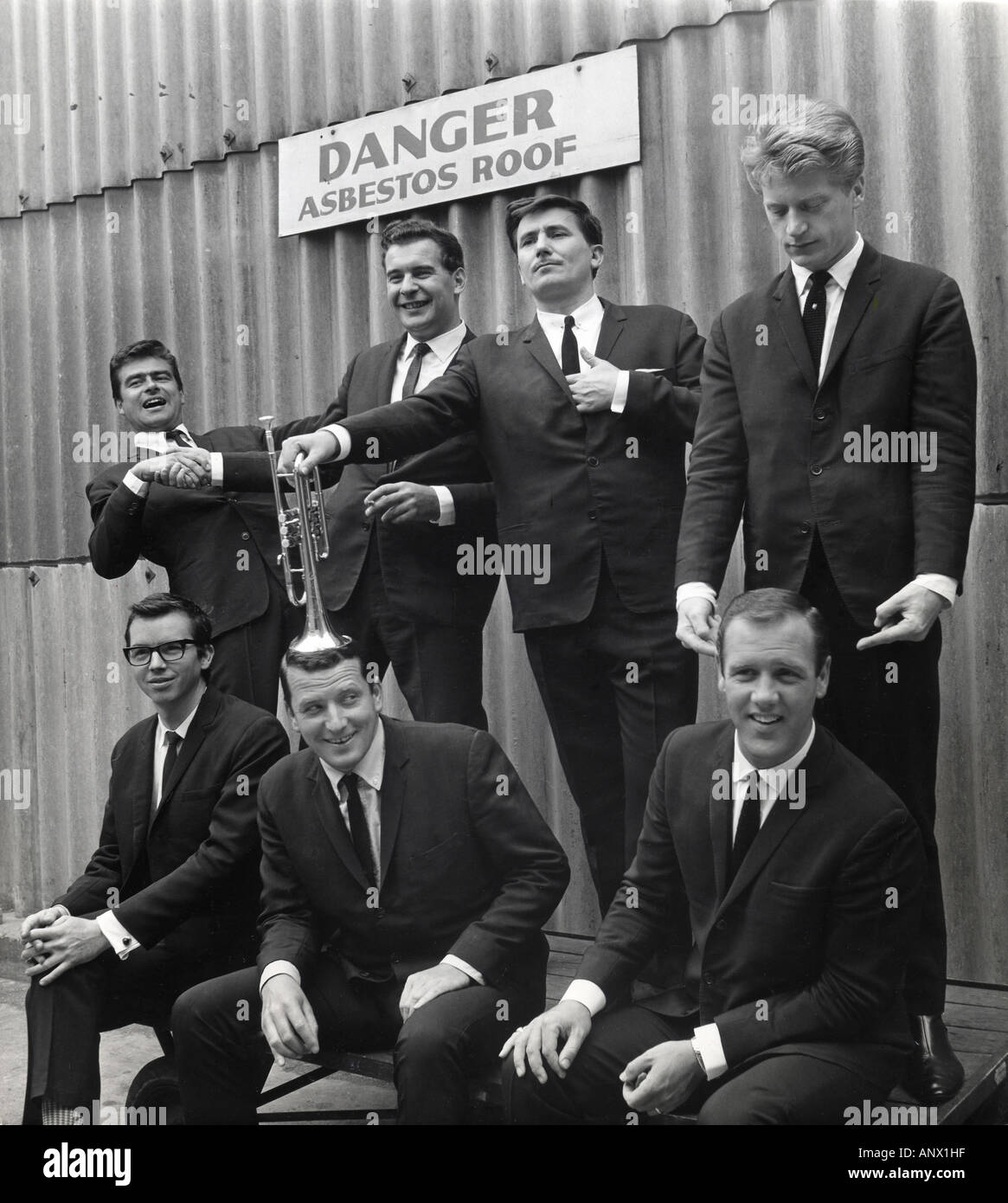 KENNY BALL AND HIS JAZZMEN - UK band in May 1964 - Stock Image