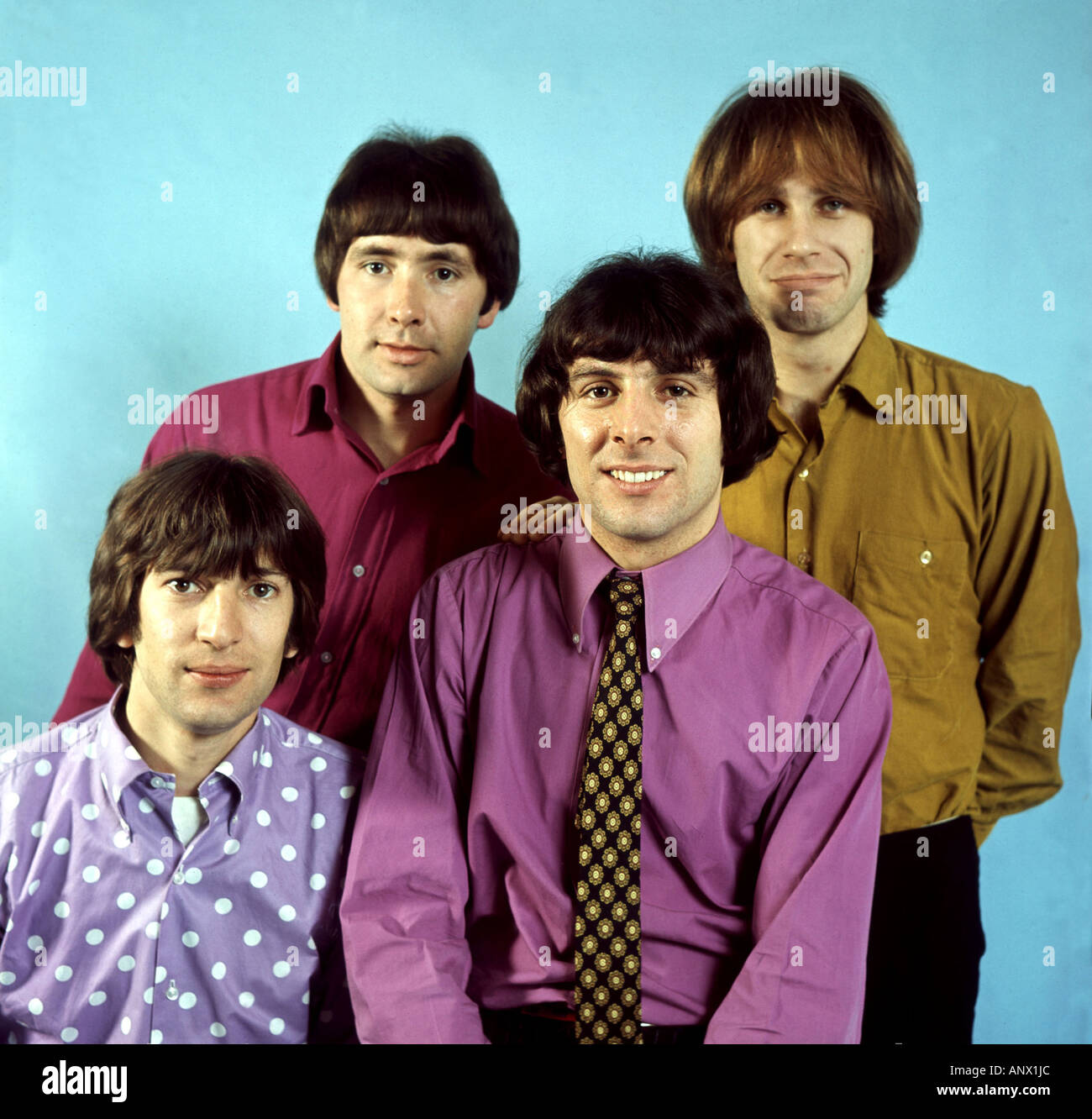TROGGS UK group in 1967 from left Ronnie Bond, Reg Presley,Peter Staples, Chris Britton. Photo: Tony Gale - Stock Image